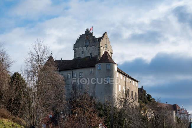 Германия, Меерсбург, Старый замок на озере Констанц вид снизу — стоковое фото