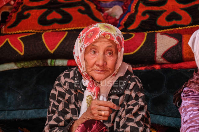 Woman old asian Police: 75