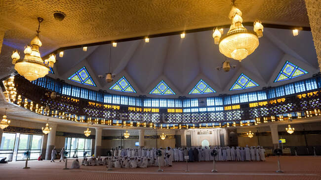 Malaysia, Wilayah Persekutuan Kuala Lumpur, Kuala Lumpur, Masjid Negara National Moschee — Stockfoto