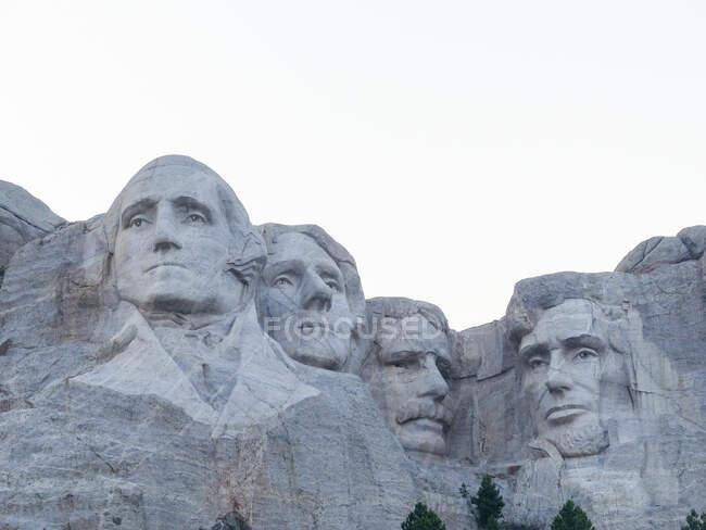 EUA, Dakota do Sul, Monte Rushmore com rostos de presidentes dos EUA. — Fotografia de Stock