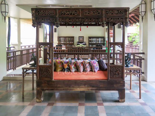 Таїланд, Chang Wat Phang-nga, Tambon Khuekkhak, read corner at Laguna Resort in Khao Lak. — стокове фото