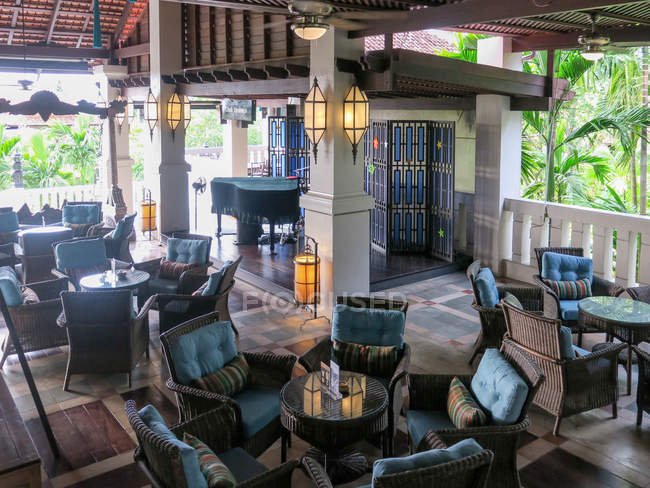 Lounge interior at Laguna Resort in Khao Lak, Thailand — Stock Photo