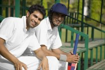 Cricket players — Stock Photo