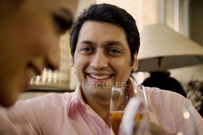 Man with a glass of wine — Stock Photo
