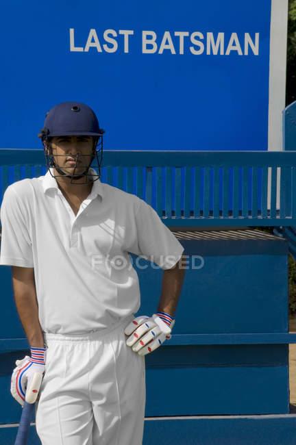 Cricketspieler — Stockfoto