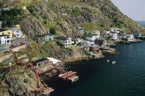Aerial view of Saint John village in Newfoundland, Canada. — Stock Photo