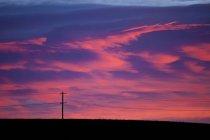 Pattern di nuvole rosa all'alba vicino a Calgary, Alberta — Foto stock