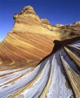 Slickrock covered with snow in Coyote Buttes, Utah — Stock Photo