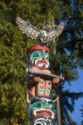 Totem pole detail at Brockton Point, Stanley Park, Vancouver, British Columbia, Canada — Stock Photo