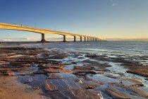 Confederation Bridge at Cape Jourimain in New Brunswick, Canada. — Stock Photo