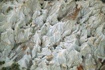 Aerial view of natural pattern of Dinosaur provincial park, Alberta, Canada. — Stock Photo