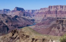 Tanner Trail vista para baixo até o Rio Colorado, Grand Canyon, Arizona, EUA — Fotografia de Stock