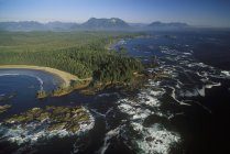 Vista aerea di Long Beach del Pacific Rim National Park, British Columbia, Canada — Foto stock