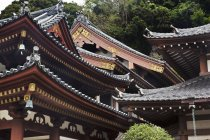 Ornate roof of Kanon-do Hall at Hasedera Temple in Kamakura, Japan. — стокове фото