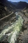 Aerial view of flowing Thompson River, British Columbia, Canada. — Stock Photo
