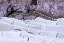 Natural pods of salt mines of Maras, Cuzco Region of Peru — Stock Photo