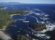Veduta aerea del Radar Beach of Pacific Rim National Park, Vancouver Island, Columbia Britannica, Canada . — Foto stock