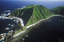 Vista aérea de triángulo isla ecológica reserva, Columbia Británica, Canadá. - foto de stock