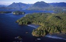 Veduta aerea del Clayoquot Sound e Tofino, Vancouver Island, Columbia Britannica, Canada . — Foto stock