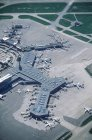 Aerial view of Vancouver International Airport, British Columbia, Canada. — Stock Photo