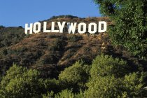 Hollywood Sign at hills of Los Angeles, California, USA — Stock Photo