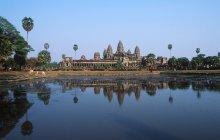 Estanque reflectante del templo de Angkor Wat, Siem Reap, Camboya - foto de stock