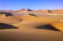 Піщані дюни пустелі в Soussusvlei, Намібія, Африка — стокове фото