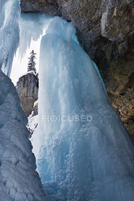 Ледовых образований зимой пантера Фолс, Национальный парк Банф, Альберта, Канада. — стоковое фото