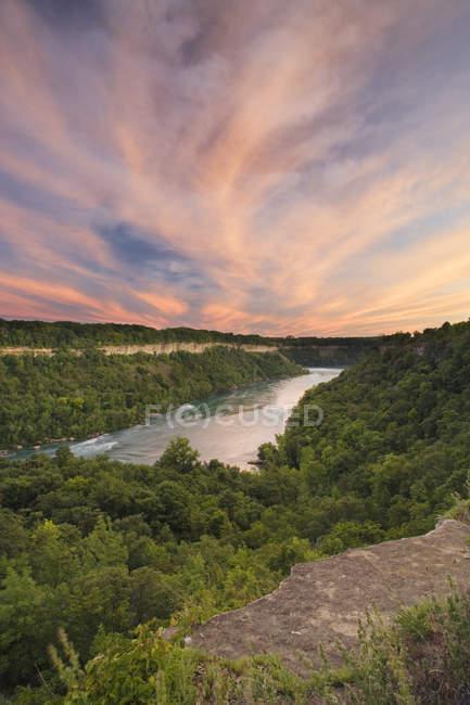 Wald und Niagara Fluss Niagara Glen Naturschutzgebiet, Niagara Falls, Ontario, Kanada — Stockfoto