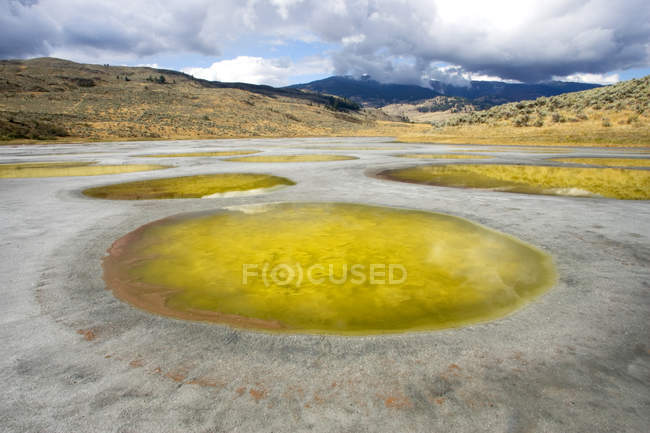 Spotted Lake in Okanagan region of British Columbia, Canada — Stock Photo