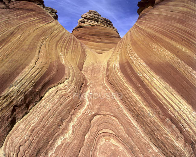 Slickrock detail of Wave rock formation in Utah, USA — Stock Photo