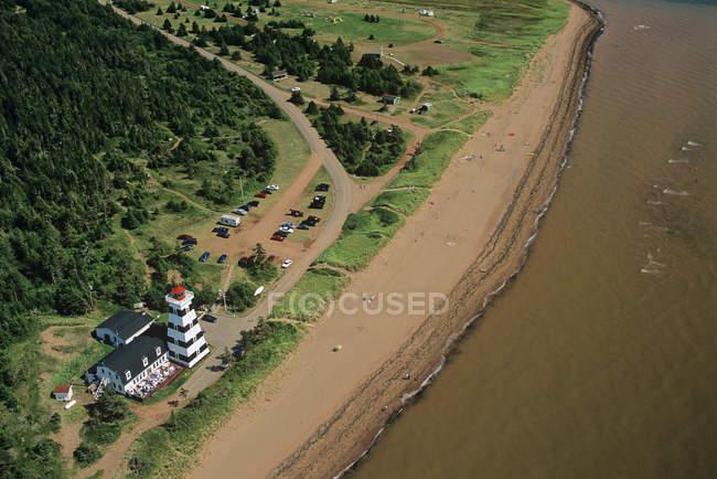 Вид з Вест-Пойнт маяк Острів Принца Едуарда, Канада. — стокове фото