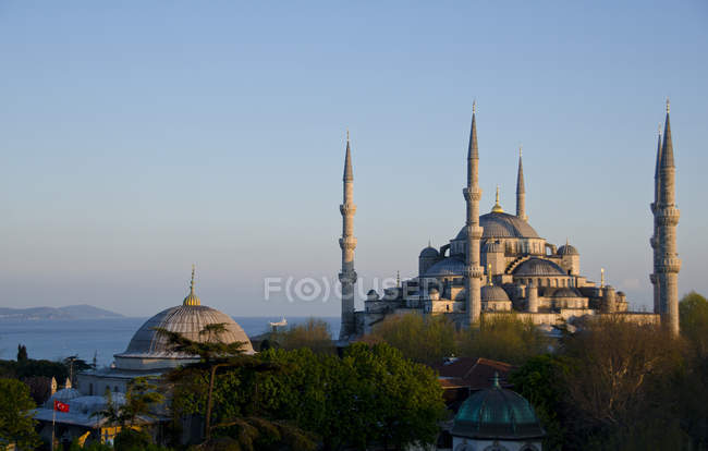 Sultan Ahmed Mosque in uno scenario di Istanbul, Turchia — Foto stock