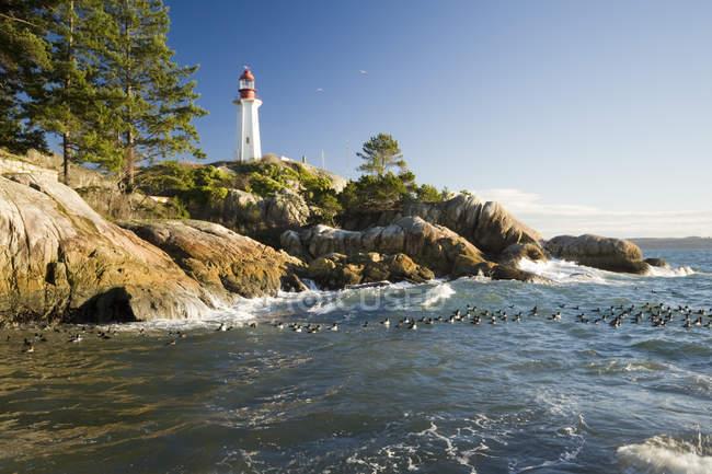 Аткінсон точці маяка в західному Ванкувері, Британська Колумбія, Канада — стокове фото
