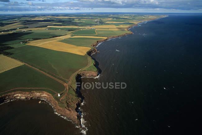 Veduta aerea dei terreni agricoli dell'Isola Principe Edoardo, Canada . — Foto stock