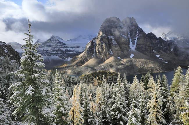 Санберст пик горы Ассинибойн Провинциальный парк, Британская Колумбия, Канада — стоковое фото