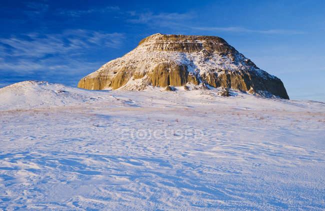 Collina di Castello Butte a Big Muddy Badlands, Saskatchewan, Canada — Foto stock