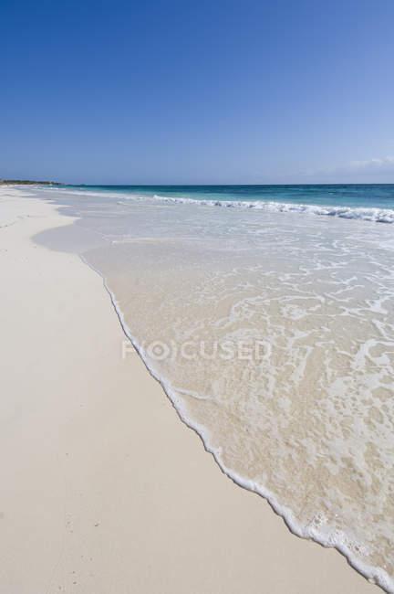 Тропічні пляжі в Тулум, Кінтана-Роо, півострова Юкатан, Мексика — стокове фото