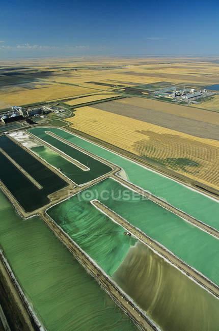 Vue aérienne du Pot Ash à Belle Plaine, Saskatchewan, Canada. — Photo de stock