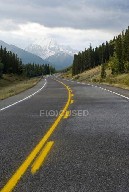Шосе з лісів і гір через напрямку Kananaskis країни, Альберта, Канада. — стокове фото