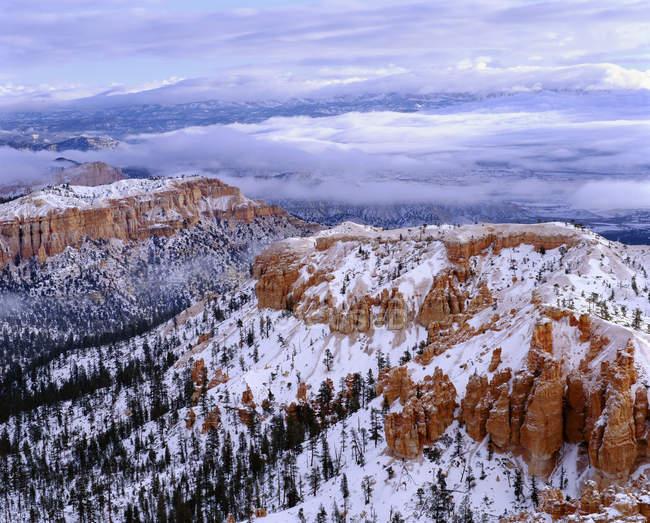 Vue aérienne du parc national du canyon bryce, patagonia, nevada, usa. — Photo de stock