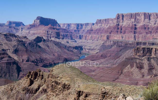 Vue de Tanner Trail jusqu'à la rivière Colorado, Grand Canyon, Arizona, é.-u. — Photo de stock