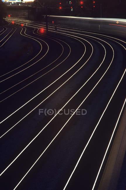 Железнодорожные пути в центре Торонто, Онтарио, Канада . — стоковое фото