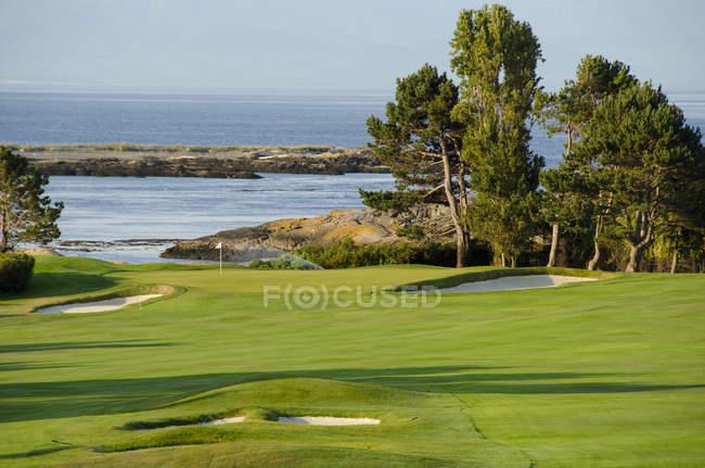 Victoria golf club an der straße von juan de fuca, oak bay, britisch columbia, kanada — Stockfoto