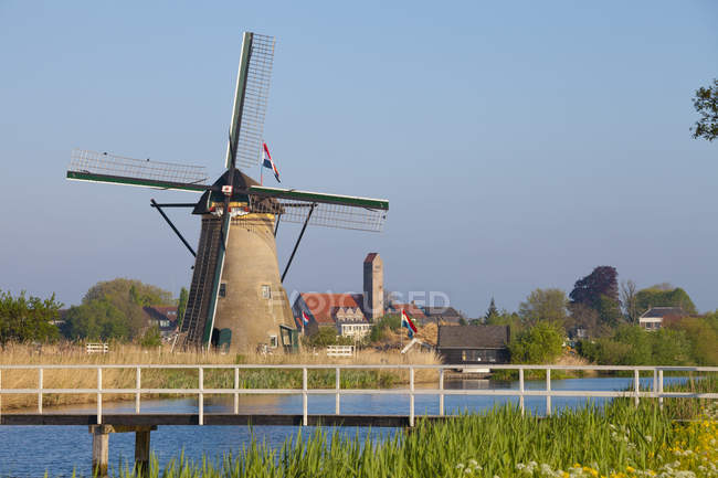 Historic windmill at Kinderdijk, South Holland, Netherlands — Stock Photo