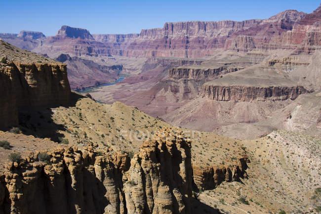 Теннер Trail подання аж до річки Колорадо, Гранд-Каньйон, Арізона, США — стокове фото