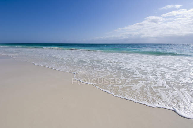 Tropical beach at Tulum, Quintana Roo, Yucatan Peninsula, Mexico — Stock Photo