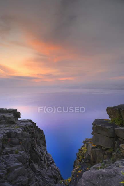 Digby Gut ao nascer do sol do ponto Prim, Digby, Nova Scotia, Canadá. — Fotografia de Stock