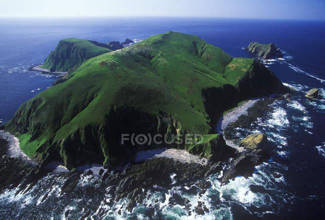 Аэрофотоснимок зеленый треугольник остров, Британская Колумбия, Канада. — стоковое фото