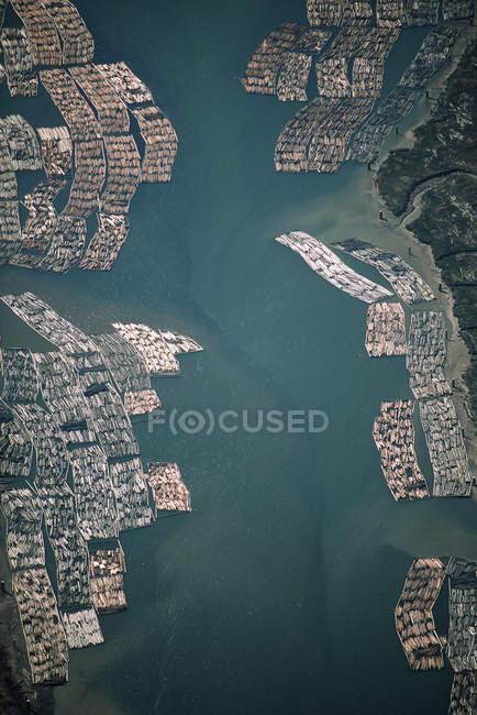 Vista aérea del río Fraser, Vancouver, Columbia Británica, Canadá . - foto de stock